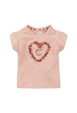 Dirkje Dirkje baby meisjes t-shirt LOVE pink