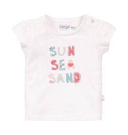Dirkje Dirkje baby meisjes t-shirt WILD white