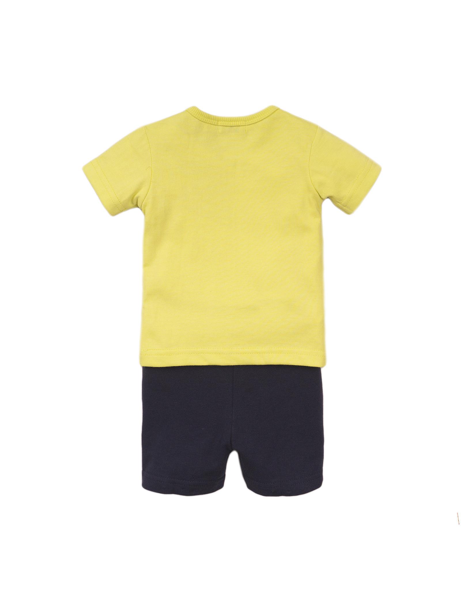 Dirkje Dirkje baby jongens setje HEY yellow navy