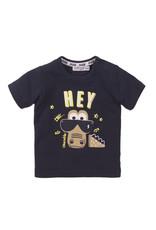 Dirkje Dirkje baby jongens t-shirt DUDE navy