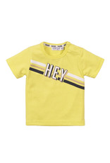 Dirkje Dirkje baby jongens t-shirt DUDE yellow