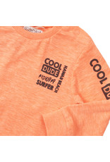 Dirkje Dirkje baby jongens shirt DUDE neon coral