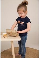 Dirkje Dirkje baby meisjes t-shirt WOW navy