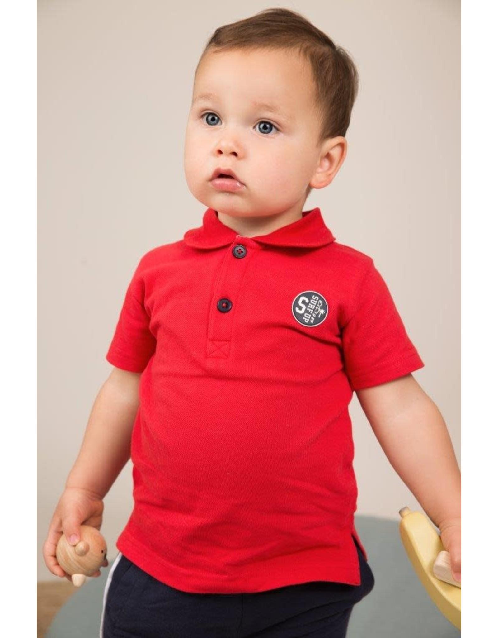 Dirkje Dirkje baby jongens polo t-shirt SURF red