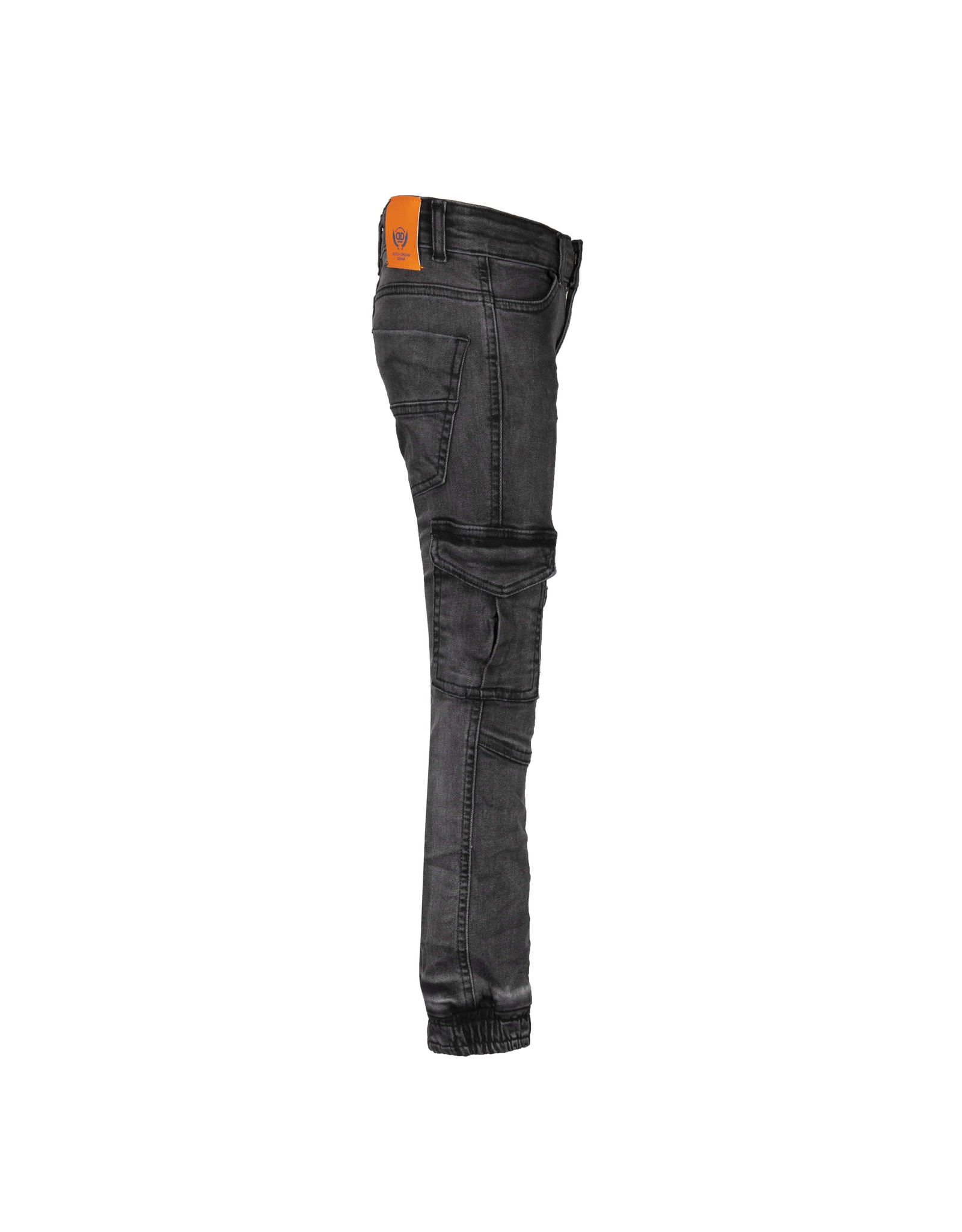 DDD DDD jongens slim fit stretch cargo jeans Fikiri Black