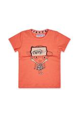 Dirkje Dirkje baby meisjes t-shirt SAY CHEESE coral