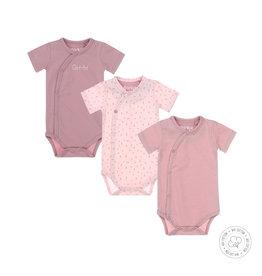 Dirkje Dirkje baby meisjes newborn setje rompers Mauve light pink