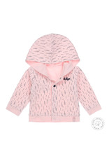 Dirkje Dirkje baby meisjes newborn reversible jasje Light Pink