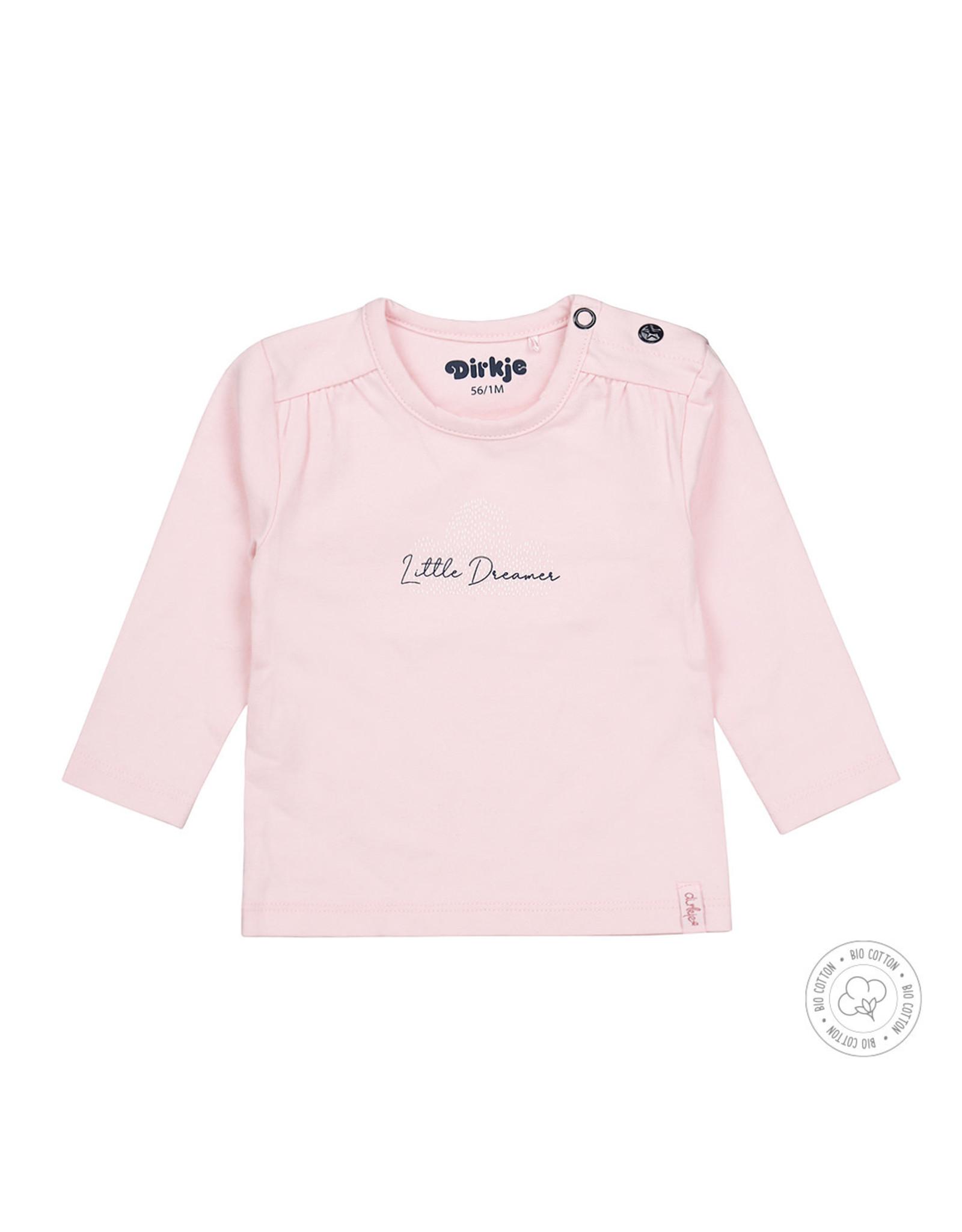 Dirkje Dirkje baby meisjes newborn shirt Little Dreamer Light Pink