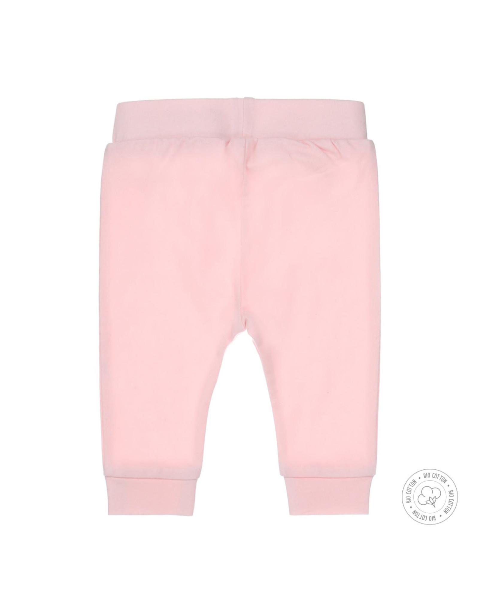 Dirkje Dirkje baby meisjes newborn broek met roesels Light Pink