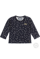 Dirkje Dirkje baby meisjes newborn shirt HEARTS Navy