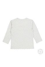 Dirkje Dirkje baby meisjes newborn shirt met roesels Off White