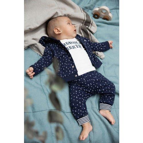 Dirkje Dirkje baby jongens newborn reversible jas Navy