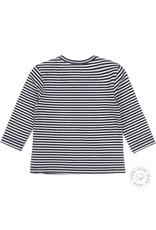 Dirkje Dirkje baby jongens newborn shirt Stripe Navy Off White