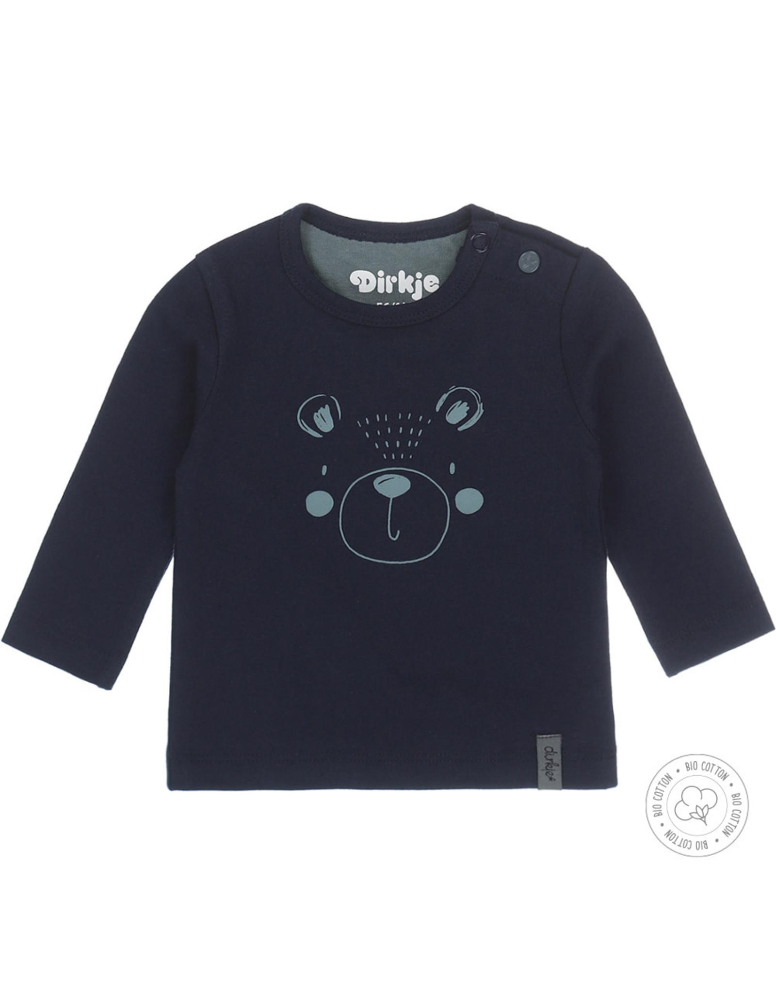 Dirkje Dirkje baby jongens newborn shirt Bear Navy