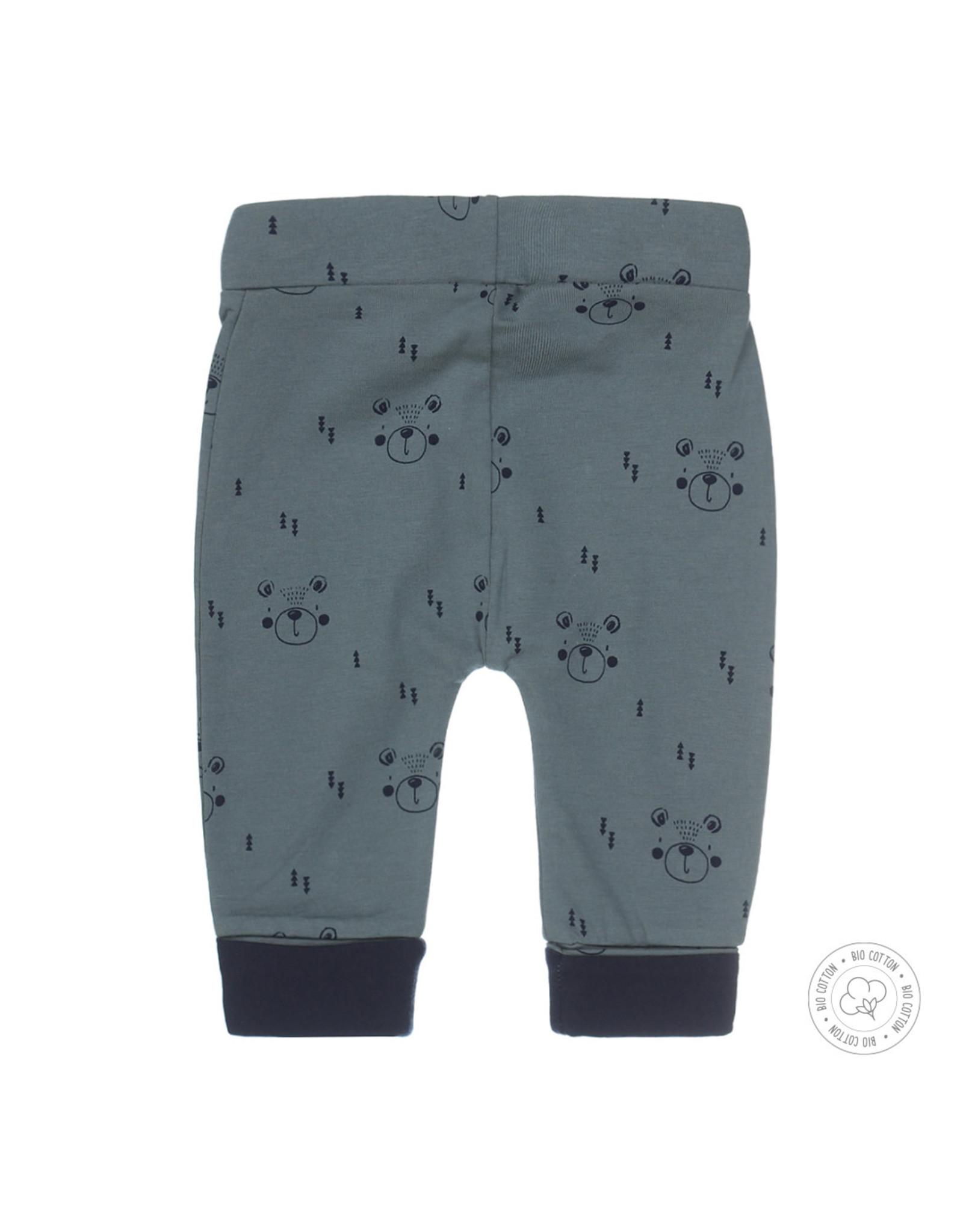 Dirkje Dirkje baby jongens newborn joggingbroek Bear Dusty Green