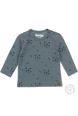 Dirkje Dirkje baby jongens newborn shirt Bear Dusty Green