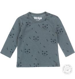 Dirkje Dirkje baby jongens newborn shirt Bear Dusty Green