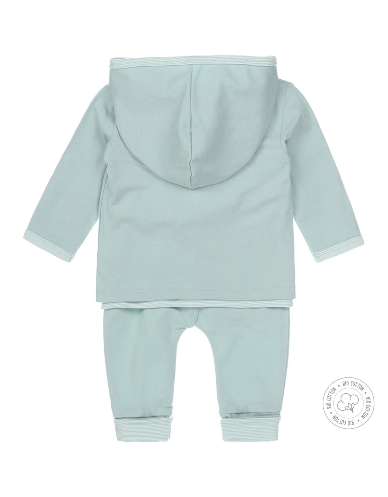 Dirkje Dirkje baby newborn 3-delig setje Aqua Green Off White