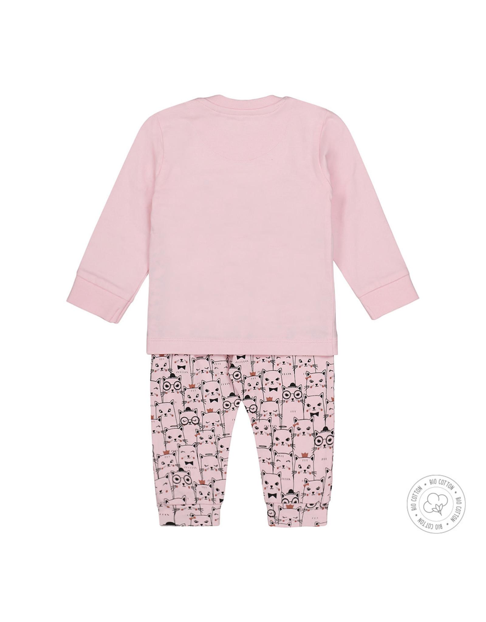 Dirkje Dirkje meisjes pyjama poesjes Light Pink