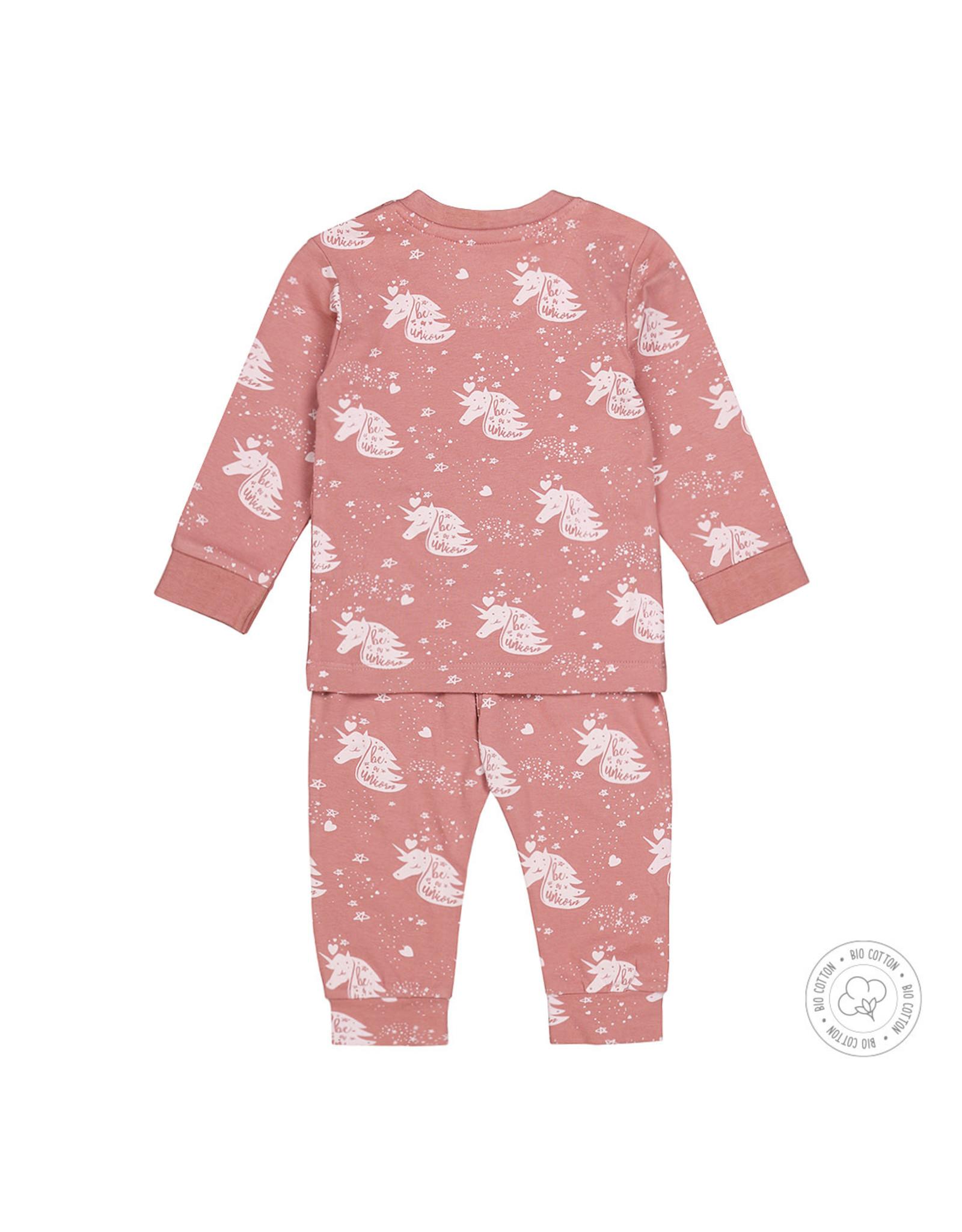 Dirkje Dirkje meisjes pyjama unicorn Ash Pink