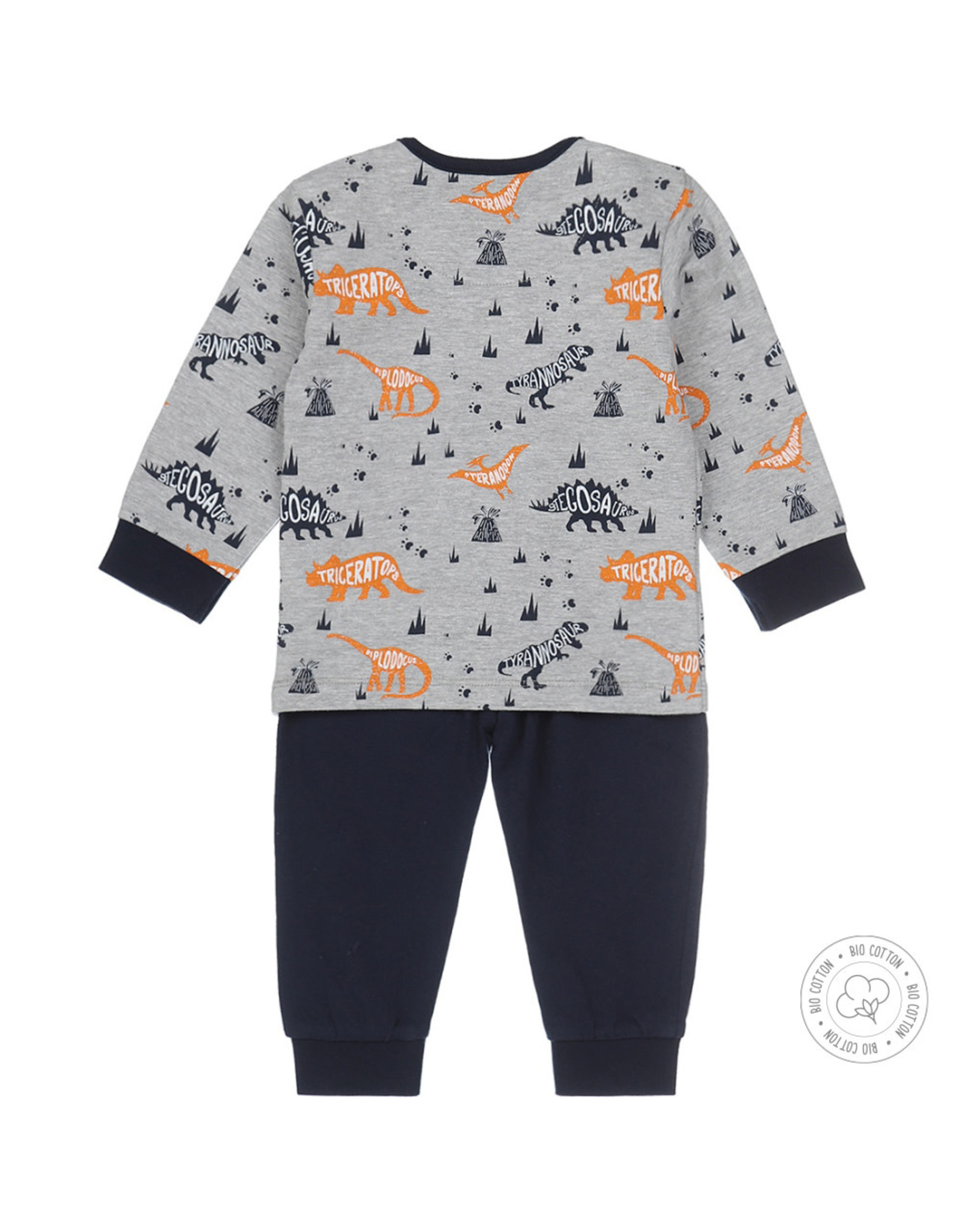 Dirkje Dirkje jongens pyjama Dino Grey Melee