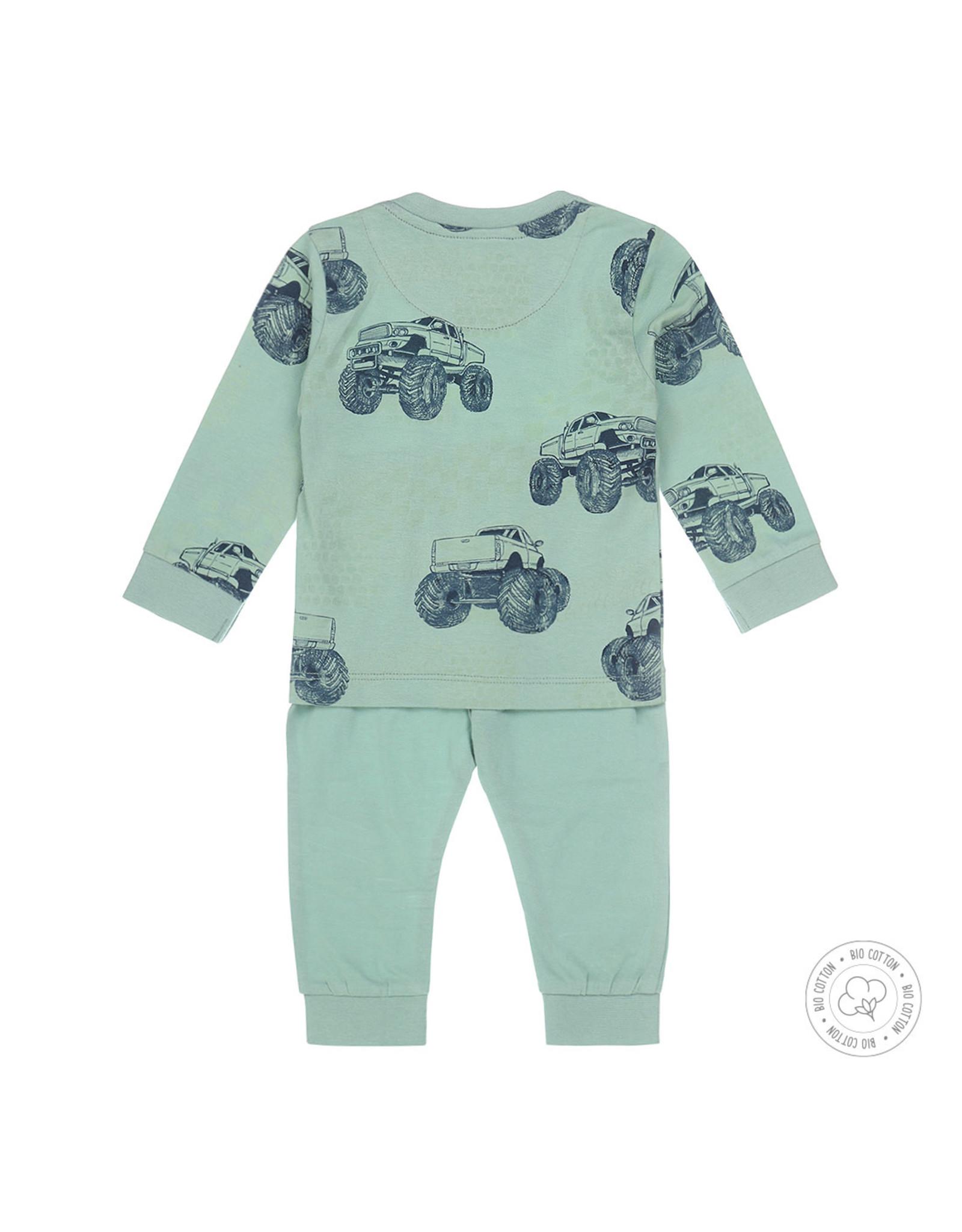 Dirkje Dirkje jongens pyjama Monstertruck Green