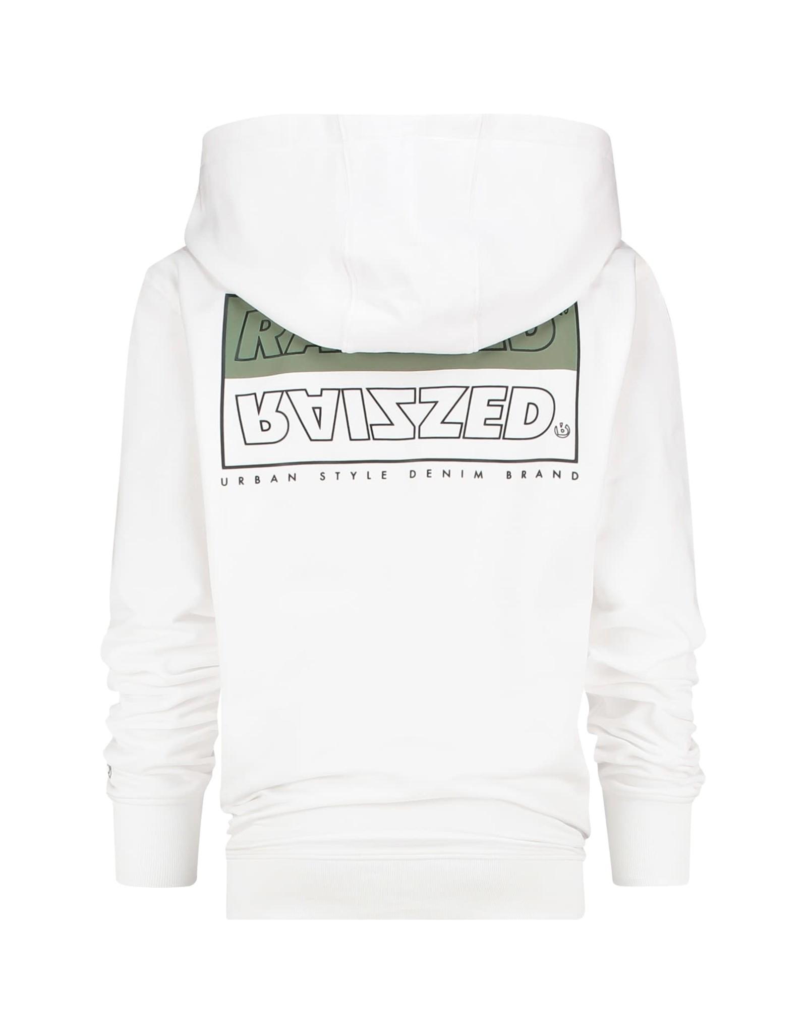 Raizzed Raizzed jongens hoodie New Castle Real White