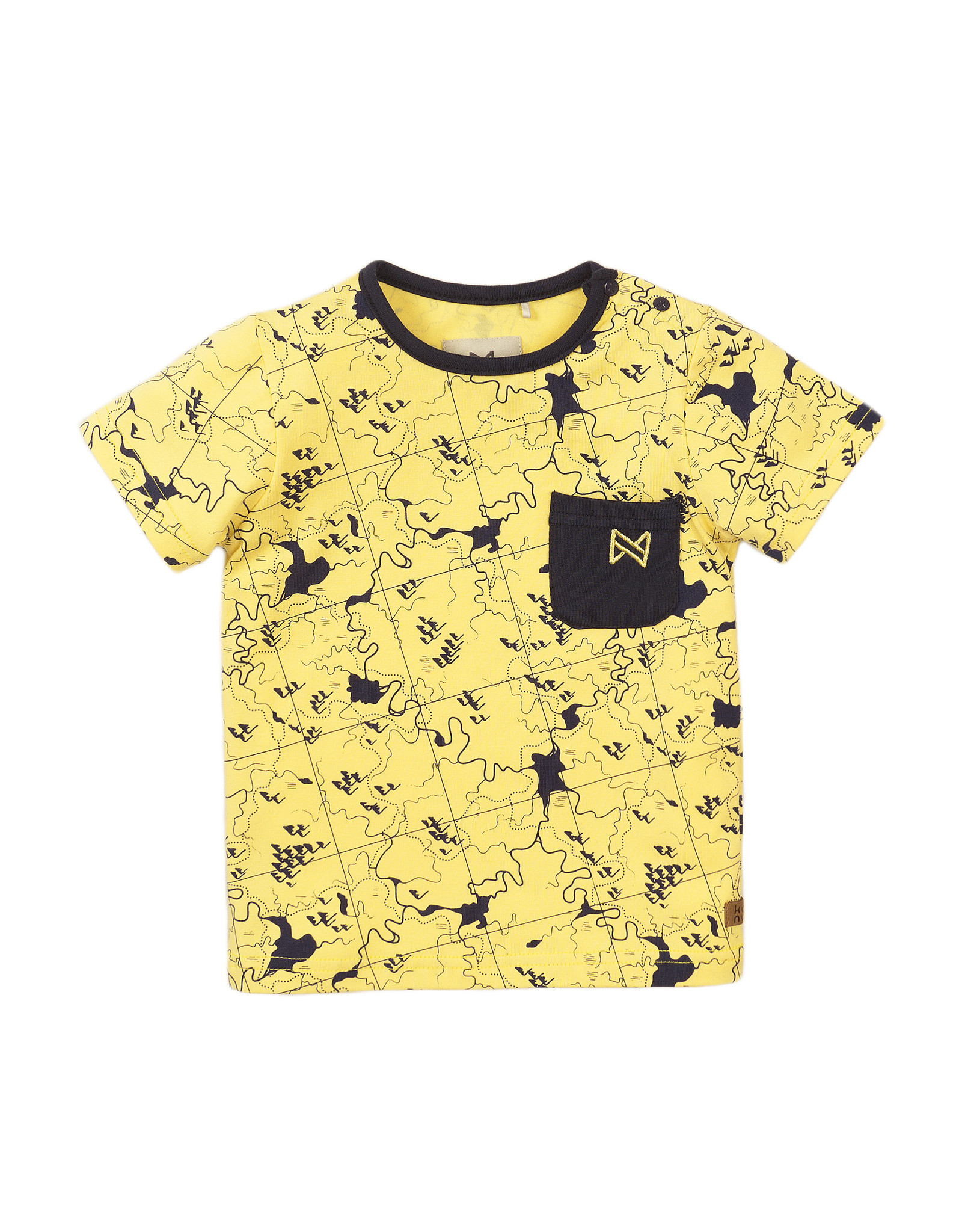 Koko Noko Koko Noko jongens t-shirt Map Light Yellow
