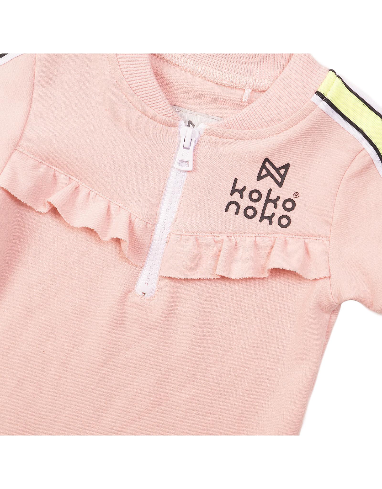 Koko Noko Koko Noko meisjes jurk met bies Pink