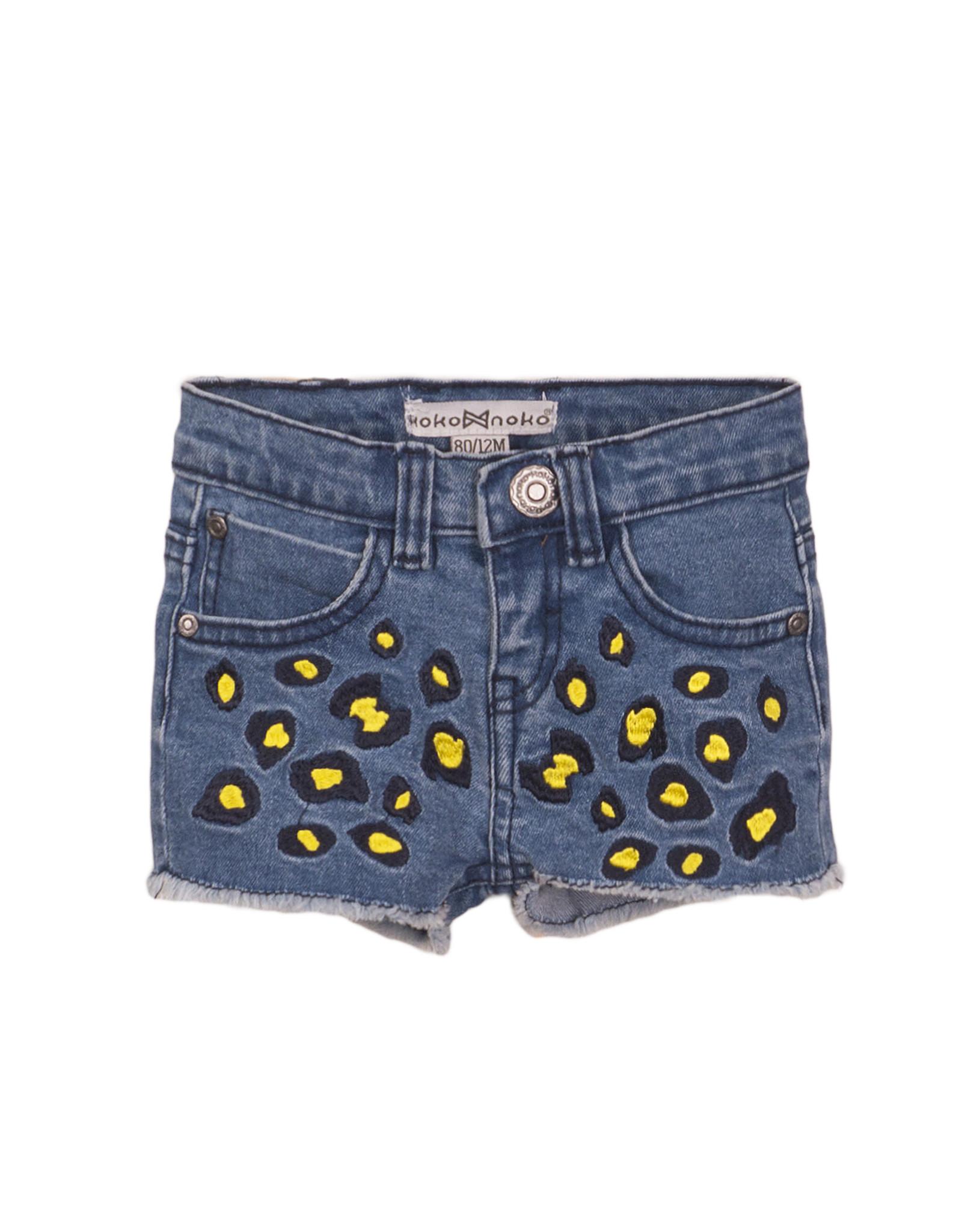 Koko Noko Koko Noko meisjes korte jeans panterprint Blue