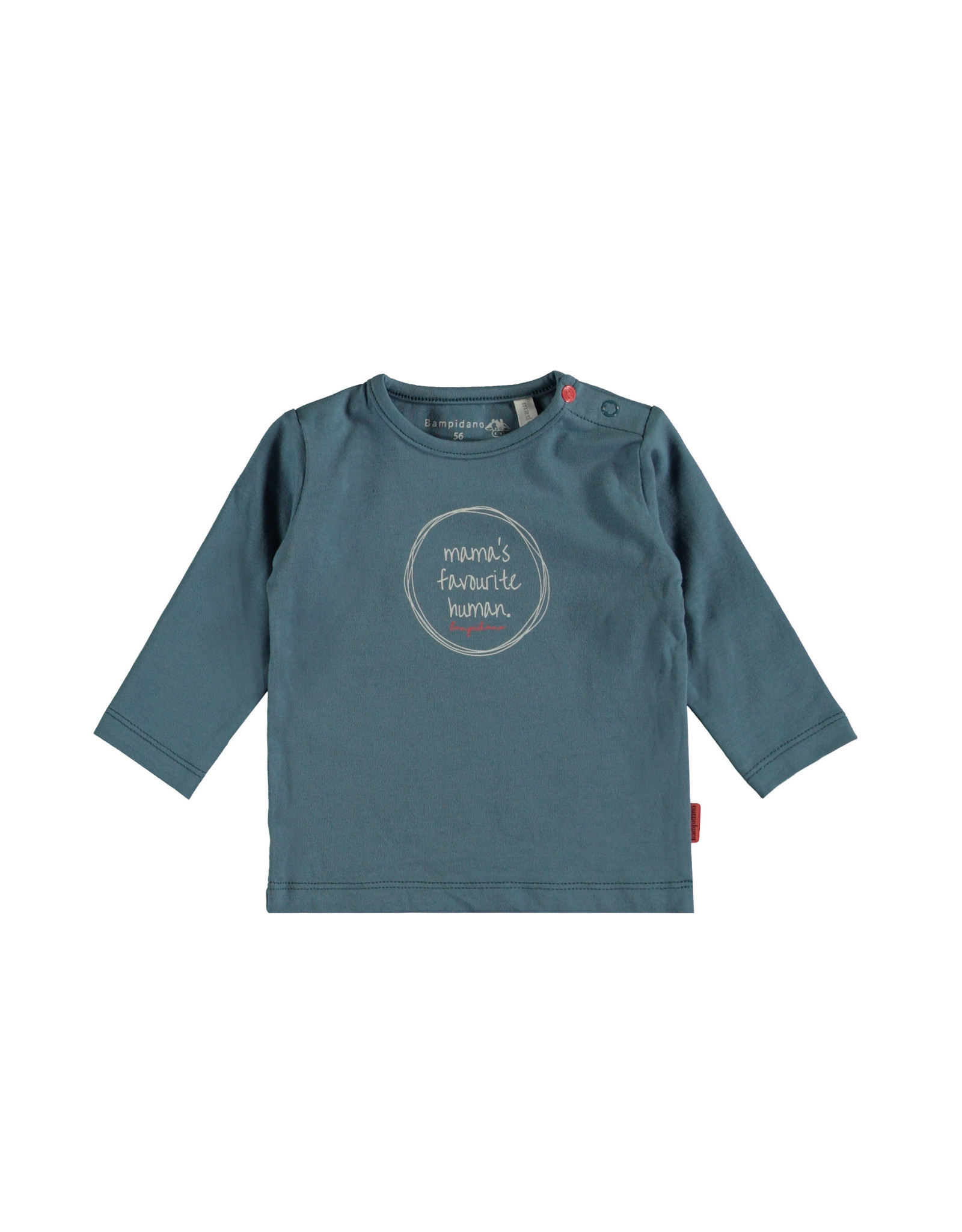 Bampidano Bampidano newborn shirt Fynn print Sloth Stone Blue