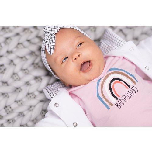 Bampidano Bampidano newborn vest print Sloth Finley White
