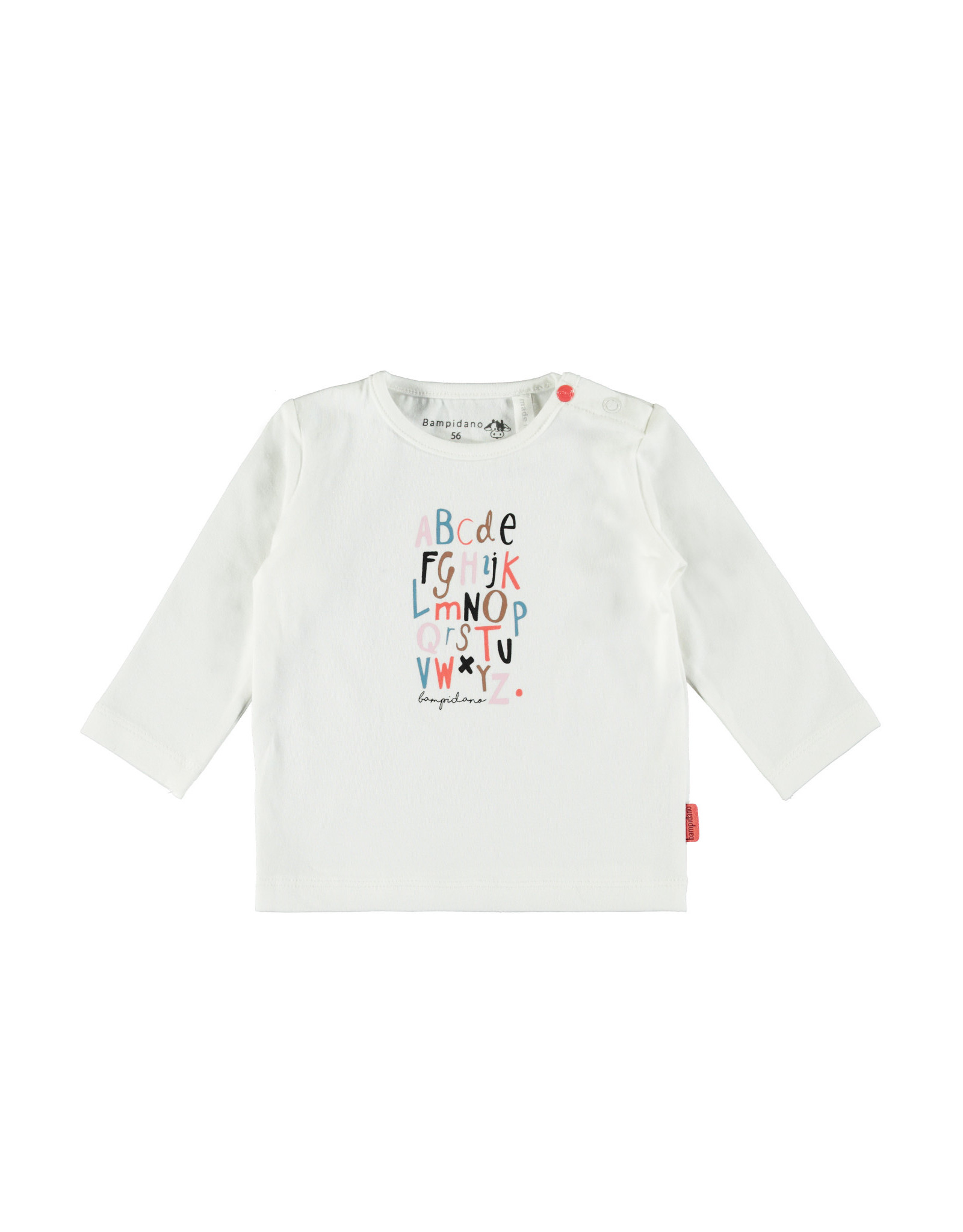 Bampidano Bampidano newborn shirt Fynn print Sloth White