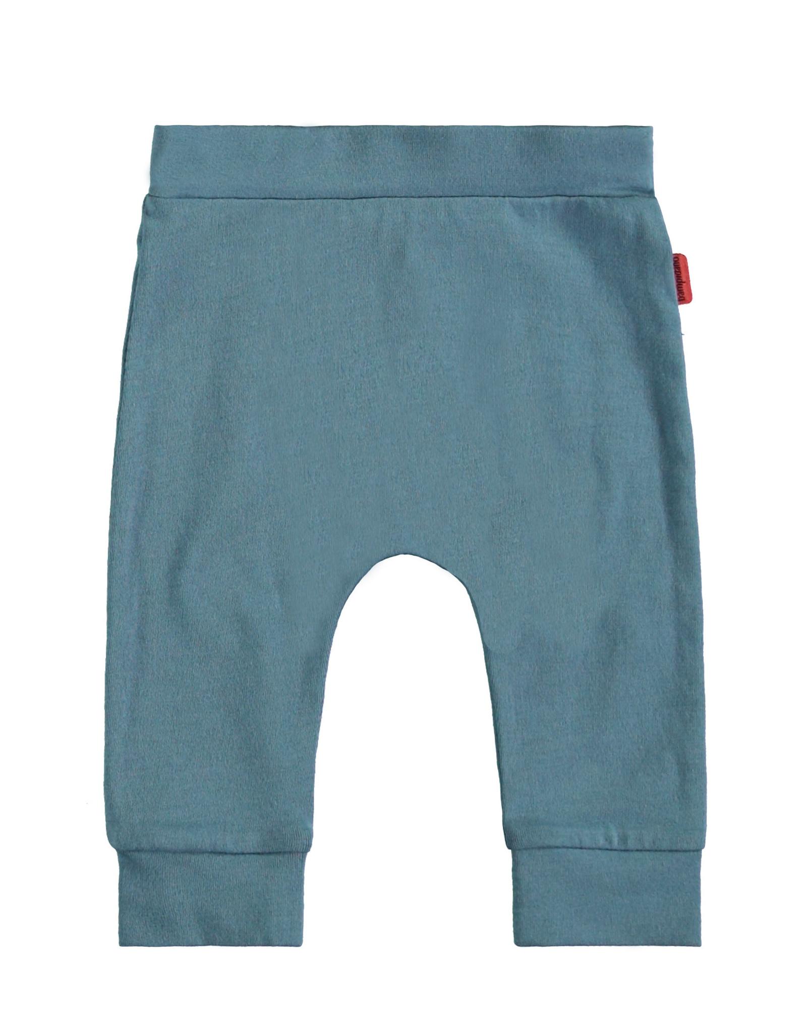 Bampidano Bampidano newborn joggingbroek Fenn plain Sloth Stone Blue