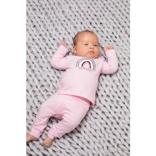 Bampidano Bampidano newborn joggingbroek Fenne plain Sloth Light Pink