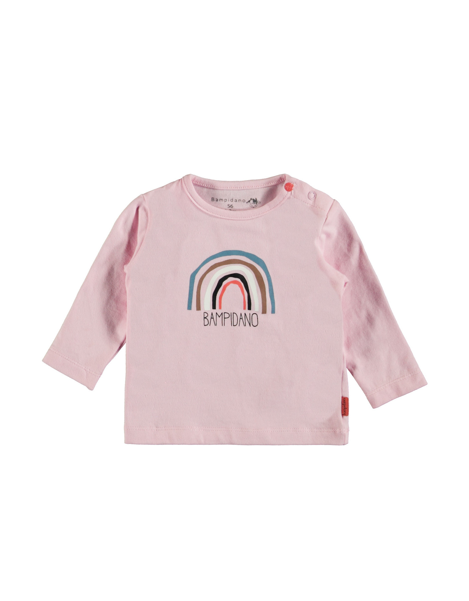 Bampidano Bampidano newborn shirt Fay print Sloth Light Pink