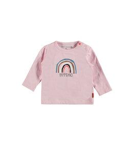 Bampidano Bampidano newborn shirt Fay print Sloth Light Pink