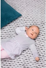 Bampidano Bampidano newborn jurk Fiene Sloth Anthra Check