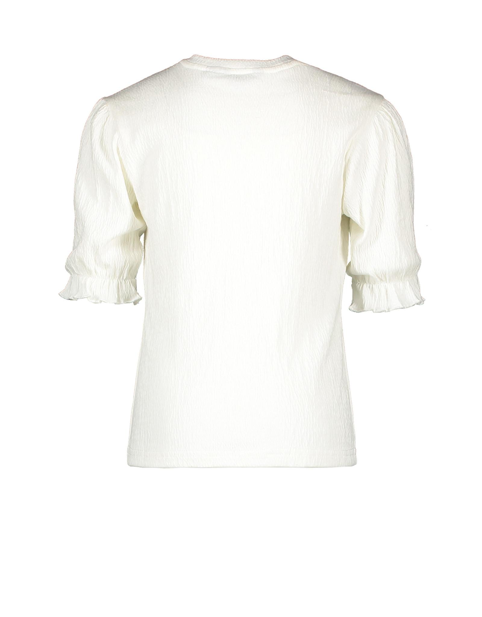 Moodstreet Moodstreet meisjes shirt met borduursel Warm White