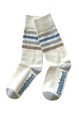 Moodstreet Moodstreet meisjes sokken stripe Soft Blue