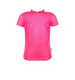B.Nosy B.Nosy meisjes t-shirt gesmokt Knock out Pink