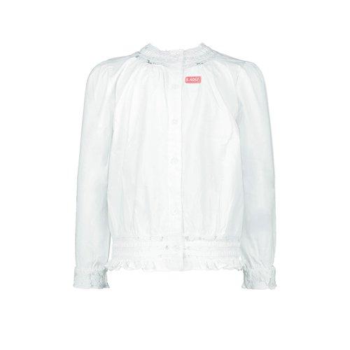 B.Nosy B.Nosy meisjes blouse sneeuw wit met kant