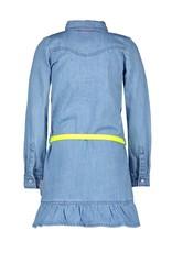 B.Nosy B.Nosy meisjes spijkerjurk met geel ceintuur Free Denim