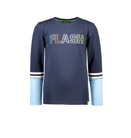 B.Nosy B.Nosy jongens shirt Flash Alaska Blue