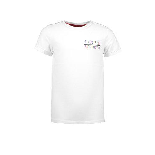 B.Nosy B.Nosy B.Yourself t-shirt sneeuw wit