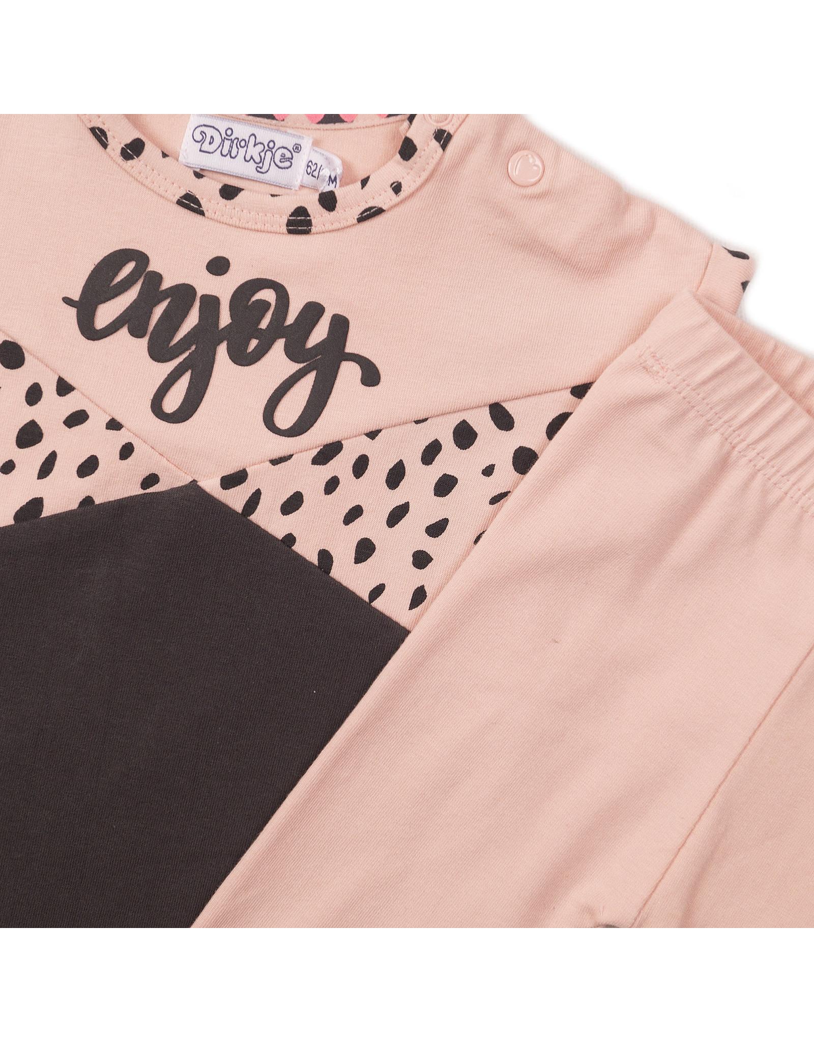 Dirkje Dirkje baby meisjes setje Enjoy Pink Grey