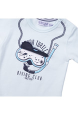 Dirkje Dirkje baby jongens t-shirt Scuba Turtle Light Aqua