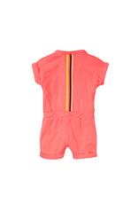 Dirkje Dirkje baby meisjes jumpsuit Kindness Neon Coral