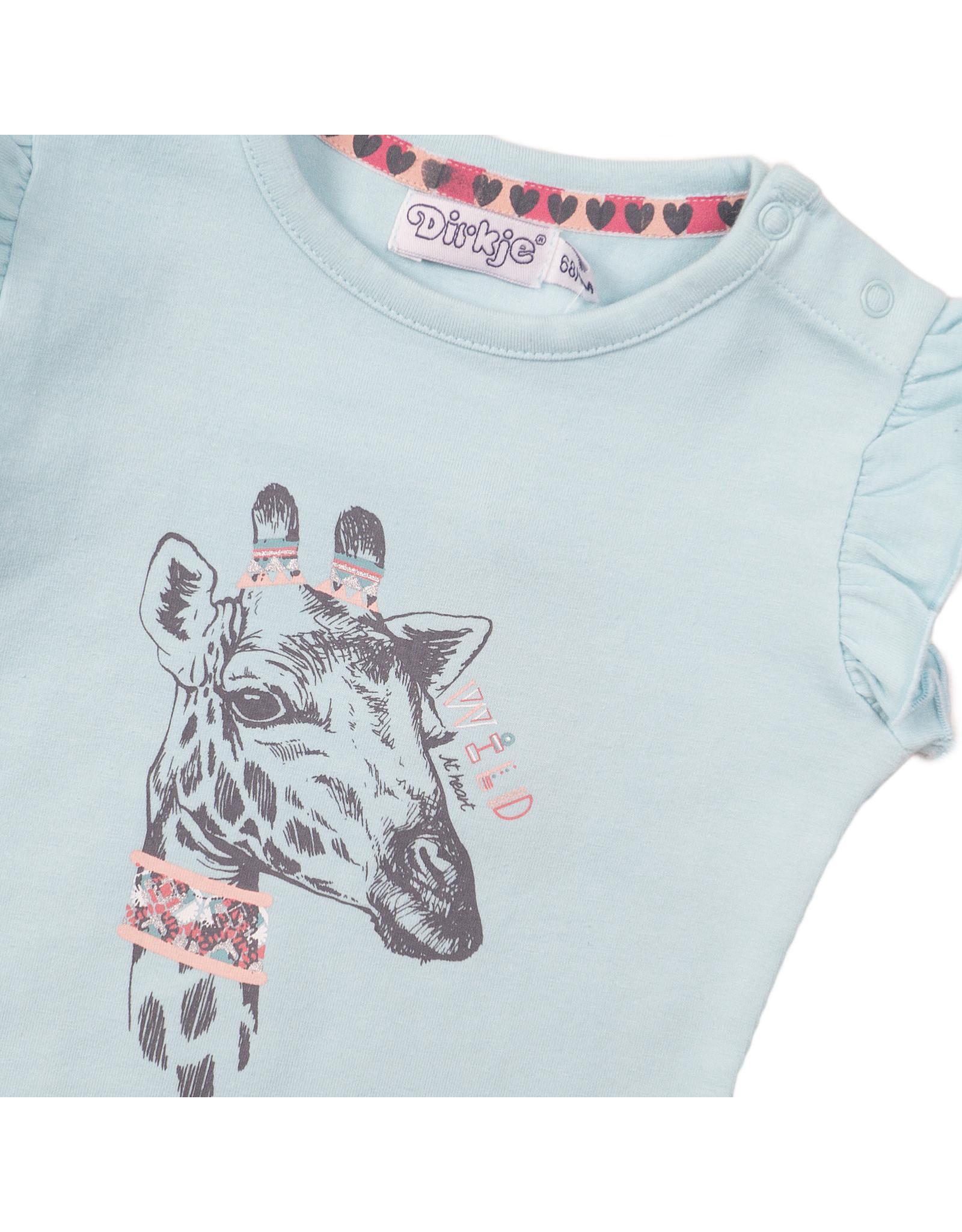 Dirkje Dirkje baby meisjes t-shirt Wild Blue